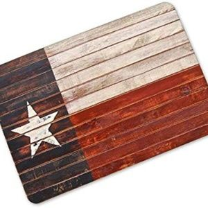 OHYESS Multi-Size Fashion Plank Wood Star Rubber N